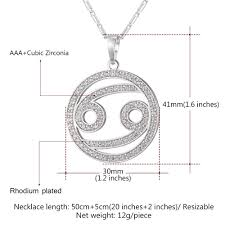cancer colors zodiac 2017 zodiac charms cancer pendant necklace simple design jewelry