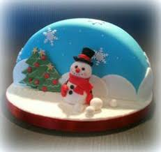 another adorable snow globe christmas cake by kdhjth on