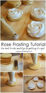 snow rose cookies tutorial frosting guns and rose