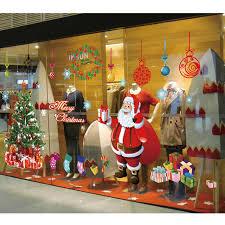 Christmas Decorations Large Santa Claus by Aliexpress Com Buy Large Santa Christmas Tree Wall Decals Diy