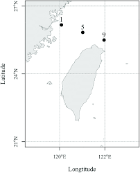 East China Sea Map Map Showing The Three Sampling Stations In The East China Sea