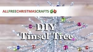 how to make a mini tinsel tree