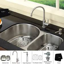 kitchen sink with faucet set kitchen sink soap dispenser style on