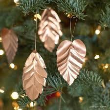 copper leaf ornaments lia griffith