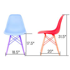 pink eames style dsw molded plastic dining shell chair with white