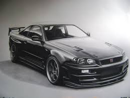 nissan r34 black nissan skyline r34 drawing by racing is my life on deviantart