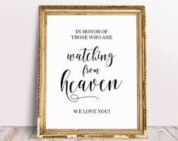 wedding memorial sign wedding memory sign etsy