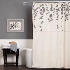 Purple Shower Curtain Sets - amazon com lush decor flower drop shower curtain 72 inch by 72