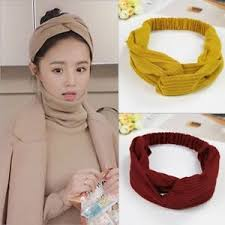 korean headband women headband korean style cotton knot elastic turban hair