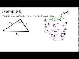 the pythagorean theorem and pythagorean triples examples