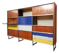 meubles design vintage meuble de rangement en aluminium et palissandre georges frydman