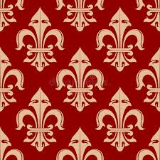 what is floral pattern in french beige and red french fleur de lis seamless floral pattern stock