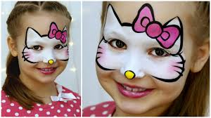 o kitty makeup for kids fast easy face painting tutorial you
