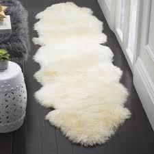 Sheepskin Runner Rug Safavieh Prairie Natural Pelt Sheepskin Wool White Shag Rug 2 U0027 X
