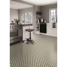 kitchen with ceramic tile effect cushion vinyl sheet