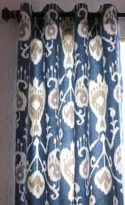 Blue Ikat Curtain Panels Fresh Diy Yellow Ikat Drapes 19317
