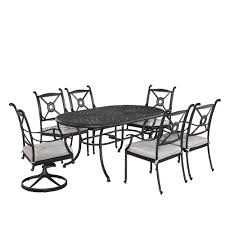 7 Piece Aluminum Patio Dining Set - hampton bay solana bay 7 piece patio dining set asr set 1148 7