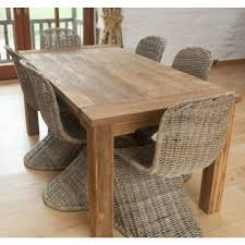 Sustainable Dining Table Reclaimed Teak 6 Seater Dining Table 6 Zorro Chairs