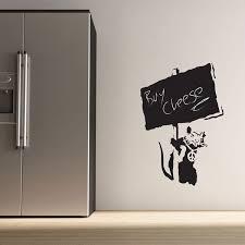 blackboard wall stickers chalkboard stickers banksy rat blackboard wall sticker chalkboard rat wall decor