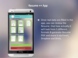 resume a resume developer android app amazing features