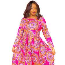 african clothing african print maxi dress ankara maxi dress pink