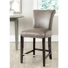 cushioned bar stool safavieh seth 25 9 in clay cushioned bar stool mcr4509f the