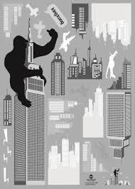king kong new york skyscraper wall stickers wallstickery com king kong new york skyscraper wall stickers