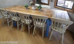 Farm House Kitchen Table by Large Rustic Farmhouse Oak Kitchen Dining Table Extending 8 5ft