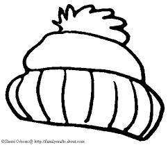 Winter Hat Free Winter Coloring Pages Stocking Cap Page Clip Art Coloring Page Of A Hat