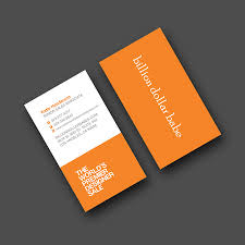 nyc offset printed spot color business cards