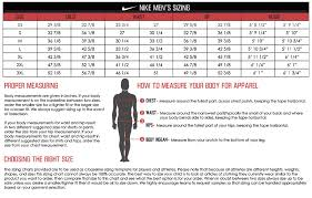 nike si e team uniforms size charts by brand from wave one sports