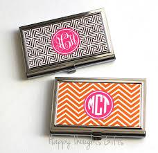 Monogram Business Cards Business Card Case Monogram Business Card Holder