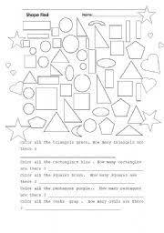 english teaching worksheets shapes