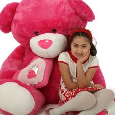 valentines big teddy ms chacha big hot pink teddy 56 in more to