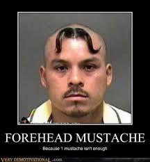 Meme Mustache - forehead mustache very demotivational demotivational posters