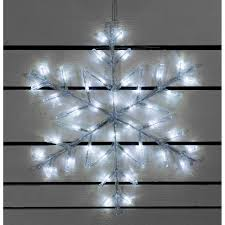 Battery Outdoor Christmas Lights by Snowflake Outdoor Light 60cm White Led Battery Operated