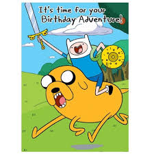 card invitation design ideas adventure time general birthday card