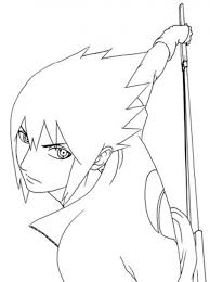 sasuke coloring pages sasuke uchiha naruto coloring free