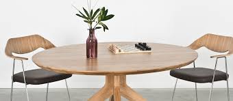 round wood table with leaf cross round dining table by matthew hilton case furniture