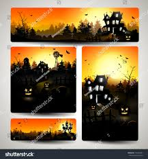 set halloween banners stock vector 153433991 shutterstock