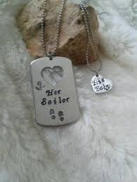 His And Hers Dog Tags Deployment Long Distance Hand Stamped Mini Dog Tag By Mreedesigns