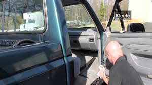 sliding glass door weather seal how to remove and replace door clinch seal on truck youtube