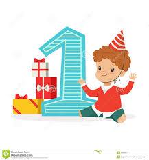 happy baby boy celebrating his first birthday kids birthday party