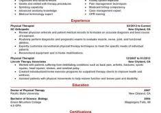 Resume Examples For Physical Therapist by Lofty Inspiration Physical Therapy Resume Examples 4 Best