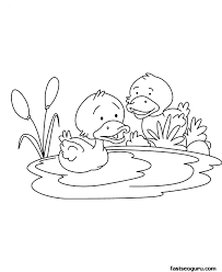 baby duck coloring funycoloring