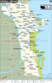 Illinois Blank Map by Central Chicago Map Map Of Central Chicago