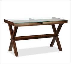O Sullivan Corner Computer Desk Ava Glass Display Wood Desk Espresso Stain Pottery Barn