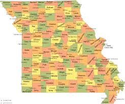 missouri map by county maps of usa