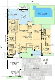 Corner Lot Floor Plans Contemporary Florida Style Home Plan 32051aa Architectural