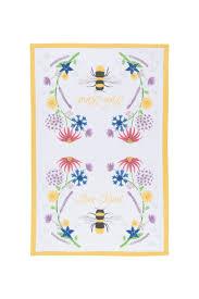 kitchen towel designs now designs bee kind dish towel from minnesota by jenny u0026 company